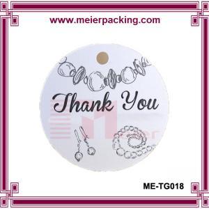 China custom printed jewelry hang tags/fashion thank you gift tags ME-TG018 on sale