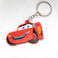 Quality 3D soft rubber car key chain for sale