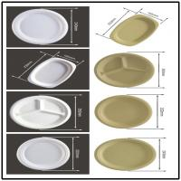 Quality BAGASSE BIO-DEGRADABLE PLATE, STRONG AND STURDY, OVAL AND ROUND SHAPE for sale