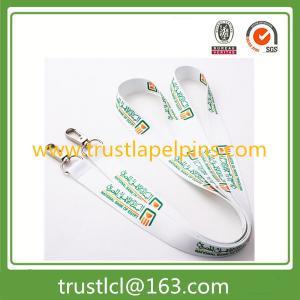 Best Custom nylon lanyard, polyster printed lanyard for sales, white lanyard wholesale