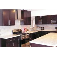 Best Chocolate Gloss Solid Wood Kitchen Cabinets , Traditional Kitchen Cupboards wholesale