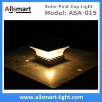 China Smart Solar Warm White LED Solar Mission Lantern Illuminated In The Top and One Amber LED in the Pillar Candle on sale