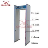 Buy cheap 6zone enhanced door frame metal detector gate with bilingual system for military from wholesalers