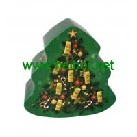 Quality custom printing christmas tree shape chocolate tin box for sale