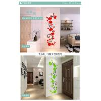 China 3 d crystal three-dimensional wall TV background wall decoration living room window, refrigerator, wall  stickers on sale