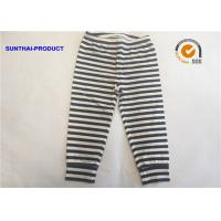 Quality White Black Plain Baby Clothes 100% Cotton Y.D Striped Baby Leggings For Fall / Winter for sale