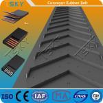 China Herring Bone Patterned Rubber Conveyor Belt for industrial transportation for sale