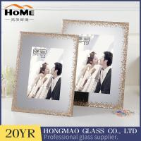 Quality Modern design gilitter surrouded lighted glass picture frame 4x6'' for sale