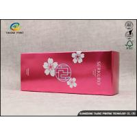 Buy Rectangle Paper Packaging Boxes For Facial Sheet Mask / Personal Skin Care at wholesale prices