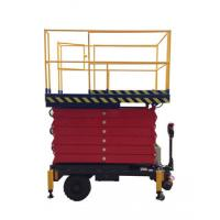 Quality 6 meters height mobile hydraulic scissor lift with motorized device loading capacity at 450Kg for sale