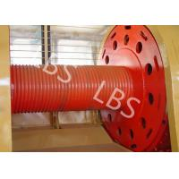 Quality Carbon Steel Integral Cable Winch Drum for Marine Windlass Boat and Lifting Machinery for sale