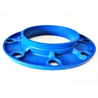 Quality C606 Grooved Cast Iron Flange Adapter , DN20mm Fire Sprinkler Pipe Welding for sale