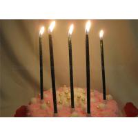 Quality Glittery Black Birthday Candles Dark Green Shimmering Powder Glitter Pillar Candles for sale