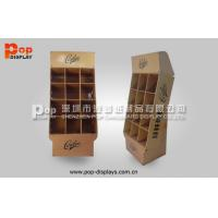 Best Brown Power Wing Cardboard Display Stands With 9 Square Pocket For Notebook wholesale