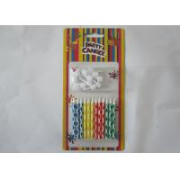 Best Bright Smokeless Colorful Birthday Candles Water Soluble With Logo Printing wholesale