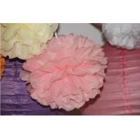 Buy cheap Wedding Party Supplies Handmade Tissue Paper Pompoms Home Decoration Baby Pink Gold White from wholesalers