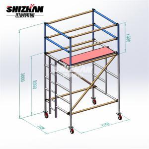 Quality OEM Catwalk Aluminium Mobile Scaffoldtower Cold Galvanization for sale