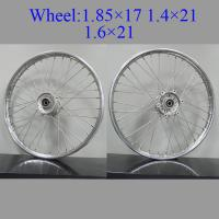 Quality 16 Inch Spoked Motorcycle Wheels High Precision Sliver Coated Multi - Color for sale