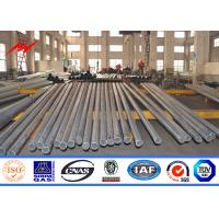 Best Q235 Steel Utility Pole Electric Telescoping Pole For Electricity Transmission wholesale