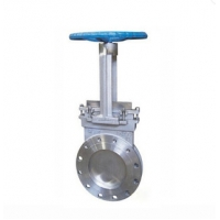 Quality Two Pieces Industrial Stainless Steel SS304 Knife Gate Valve With Handwheel operator for sale
