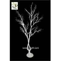 Best UVG white artificial twig tree with PE plastic branches for wedding decoration ideas DTR28 wholesale