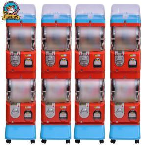 Quality Amusement Center Gumball Vending Machine Transparent Ball Box 1-6 Coins for sale