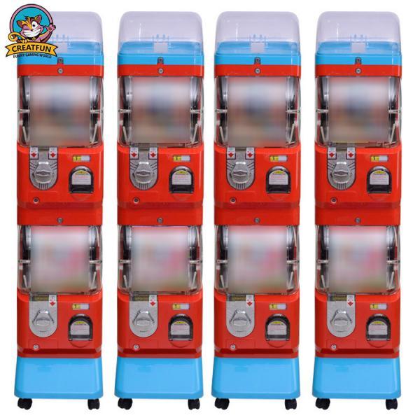 Buy Amusement Center Gumball Vending Machine Transparent Ball Box 1-6 Coins at wholesale prices