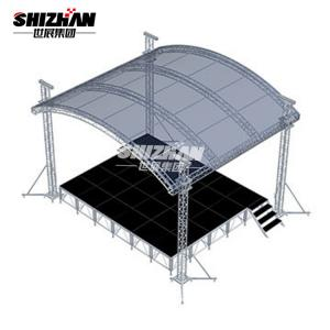 Quality Outdoor Semi Circle Aluminum Lighting Truss 290x290mm for sale