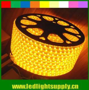 Best 5050 AC strip lights 220V yellow emitting 60LED/M wholesale