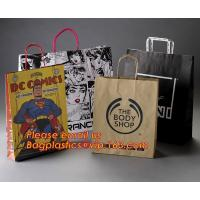Quality Luxury matte black shopping paper bag with logo UV for clothing packaging for sale