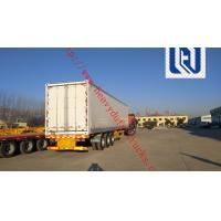 China 2400X2500X1650mm Dimenssion 2 Axles Fuwa brand  13T * 2pcs Skeletal Container Semi Trailer 2.0 inch on sale