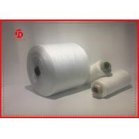 China Paper Cone Polyester Raw White Yarn For Sewing Eco - Friendly Great Strength on sale