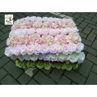 Best UVG fashionable silk artificial flower mat carpet in roses and hydrangeas for wedding backdrop wall decoration CHR1136 wholesale