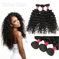 Quality 6A Peruvian Virgin Curly Hair Extensions / Soft 100% Human Hair Wefts for sale