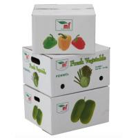 Quality Eco - Friendly Vegetables Packing Boxes , Plain Cardboard Boxes For Food Packaging for sale