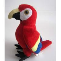 Quality Red Lovely Parrot Plush Toy for sale