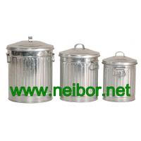 Quality galvanized storage cans storage bins with lid 4L 7L 10Litres for sale