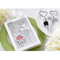 Quality Heart Shaped Personalized Corkscrew Bottle Opener And Sealer With Packaging Box for sale