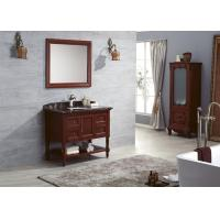 China Classical Italy Style Solid Wood Bathroom Cabinet Storage Sink Vanity With Mirror on sale