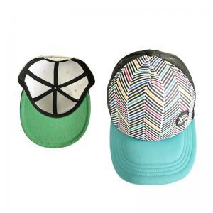 Quality Promotional Unisex Trucker Mesh Cap Hip Hop Flat Brim Trucker Hat Eco Friendly for sale