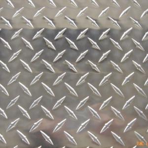 Quality Custom Cut 1xxx 3xxx 5xxx 6xxx 8xxx Diamond Embossed Aluminum 1.0mm for sale