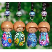 Best car air freshener empty bottle 5ml with smile face wood head wholesale