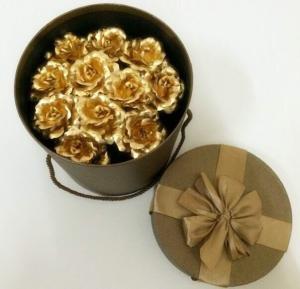 China Wedding love Valentine day decoration gift 24k Gold Foil Rose bouquet on sale
