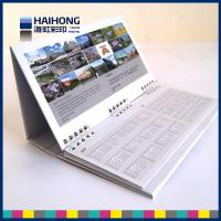 China Personalized Wire O desktop calendar printing in glossy coated art paper on sale
