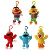 Quality Cute Sesame Street Plush Stuffed Toys with Hook keychain toys for sale
