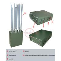 Buy cheap Manpack Mobile Phone Signal Jammer 6 High Gain FRP Antennas High Output Power from wholesalers
