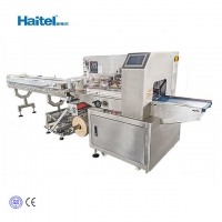 Quality Haitel New Adjustable length fresh vegetable and fruit packaging machine horizontal flow pack machine flow pack wrapper for sale