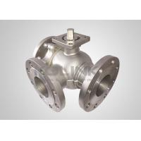 China Cast Steel 3-way Ball Valve Stainless Steel L-port T-port Anti-static on sale