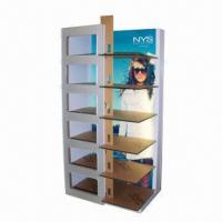 Best Sunglass Display Stand with Light, White Lamination  wholesale