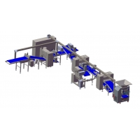 Quality ZKS650 Pastry dough block laminator / capacity 1500kg/hr with retraction machine for Auto.folding for sale